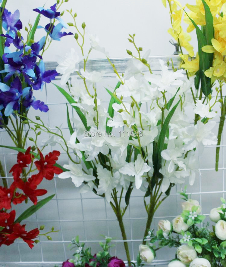 Nueva Flor de La orquídea Artificial Fake Casa Habitación de Hotel de Novia de L