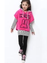3 Pics 2016 Autumn Sports Suits Fashion Girls Clothing Set Tracksuit Floral T-shirts+Pants+Jacket Sports Suits Girls Clothing
