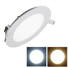 цена на Ultra thin 3W/4W/6W/9W/12W/15W/25W LED Panel Light Recessed LED Ceiling Downlight 85-265V Warm/Cold White indoor light +driver