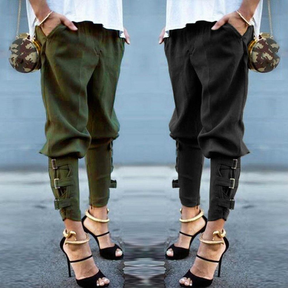 c6b3c4a635d Spring Autumn 2018 Women Harem Pants Casual Loose Elastic Waist Pants  Leisure Army Green Trousers Pantalon Femme Plus Size