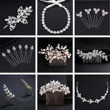 QYY Classic Crystal Hair Comb Hair Pins and Clips Rhinestone Headpiece Wedding Bridal Hair Accessories for Women недорого