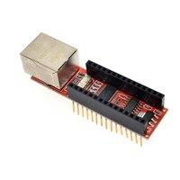 1PCS ENC28J60 Ethernet Shield V1 0 For Arduino Compatible Nano 3 0 RJ45 Webserver Module