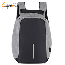 Guapabien 2017 Fashion Multifunction Backpack Large Capacity USB Charging Laptop Bag Zipper Casual backpack Teenager Mochila