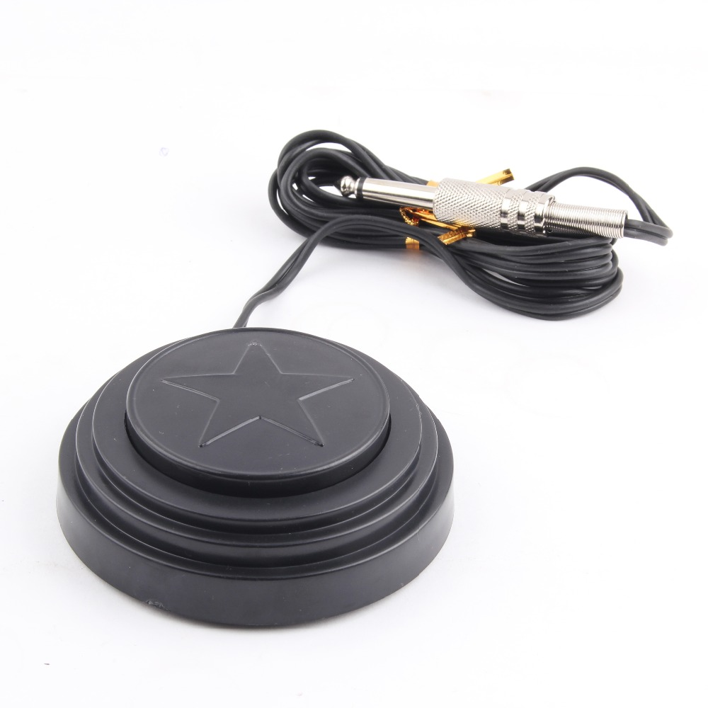 One 360 Degree Star Design Tattoo Foot Pedal Switch For Power Machine Kit Supply