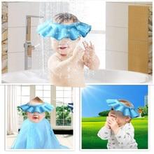 1PCS Safe Baby Kids Children Hat Wash Hair Shield Shampoo Bath Bathing Shower Cap Adjustable