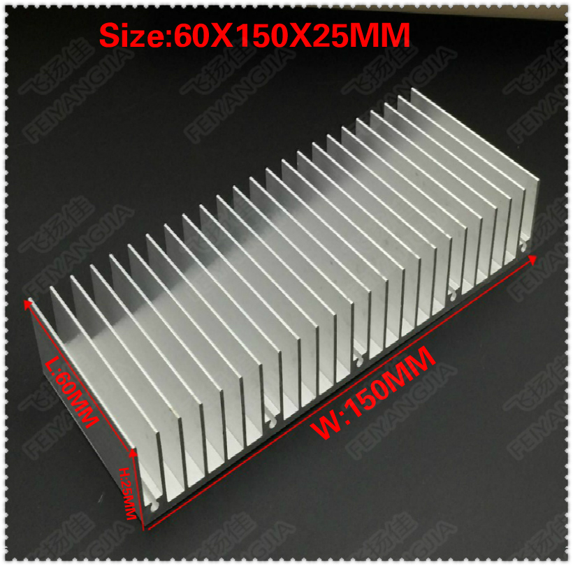 1PCS 60X150X25MM radiator Aluminum heatsink Extruded heat sink for LED Electronic heat dissipation cooling coole radiator aluminum heatsink extruded profile heat sink for electronic chipset l059 new hot