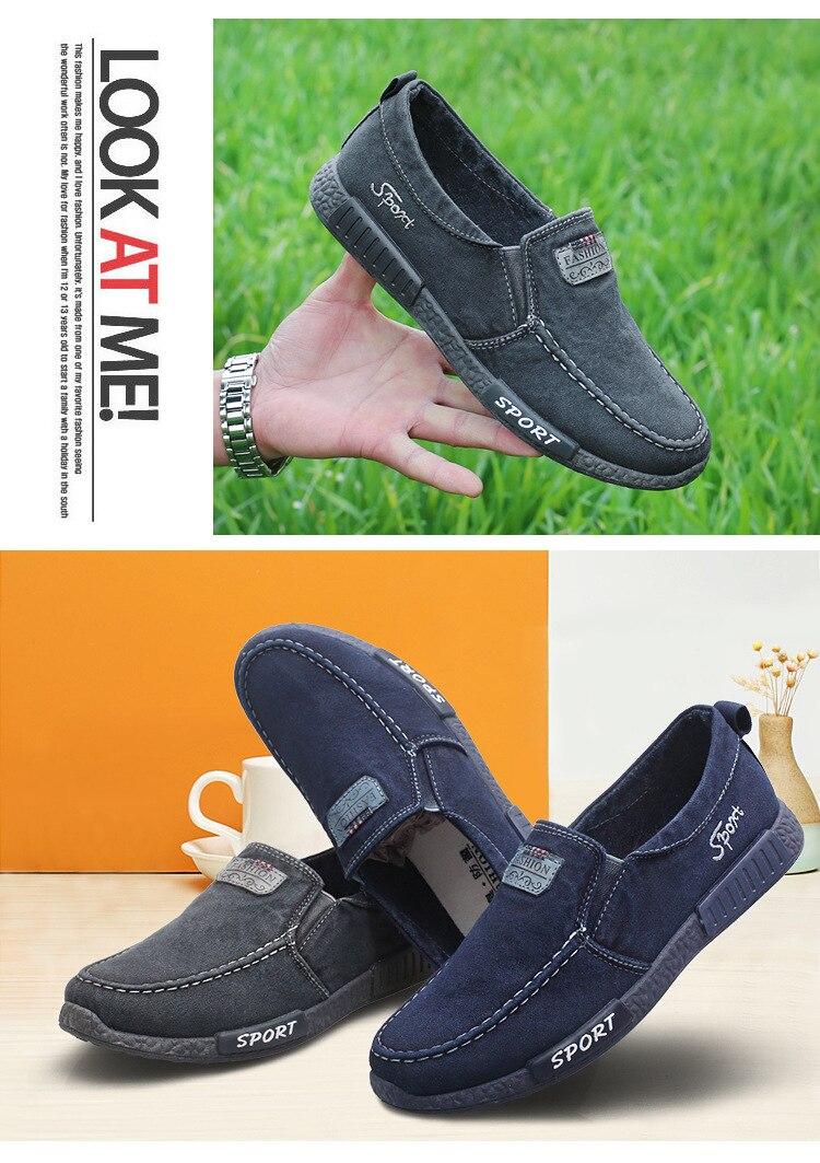 40c3899b5 ... кроссовки мужские туфли обувь для взрослых удобная мужская обувь джинсовые  мужские лоферы Мужская Тканевая обувь Наслаждайся ✓Бесплатная доставка по  ...