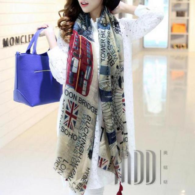 US Flag Print Womens Fashion Scarves Pashmina Cashmere Paisley Stole Shawl Wrap Scarf 110*180cm