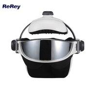 2 в 1 голова, глаз, массажер Presso давление Релакс анти стресс Вибрация массажный шлем дальняя инфракрасная терапия здоровье и гигиена машина