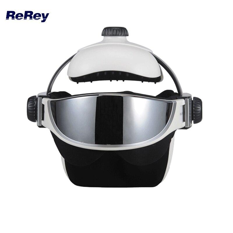 2 в 1 голова, глаз, Массажер Presso давление расслабляющий антистрессовый Вибрационный Массажный шлем дальняя Инфракрасная Терапия Медицинская Машина