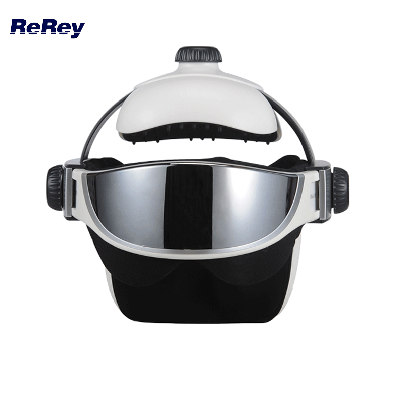 все цены на 2 in 1 Head Eye Massager Presso Pressure Relax Anti-stress Vibration Massage Helmet Far Infrared Therapy Health Care Machine онлайн