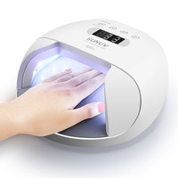 SUNUV SUN7 Nail Lamp 48W Nail Dryer for Gel Varnish with 30pcs LEDs Battery Choice Fast Dry Nail Drying Machine