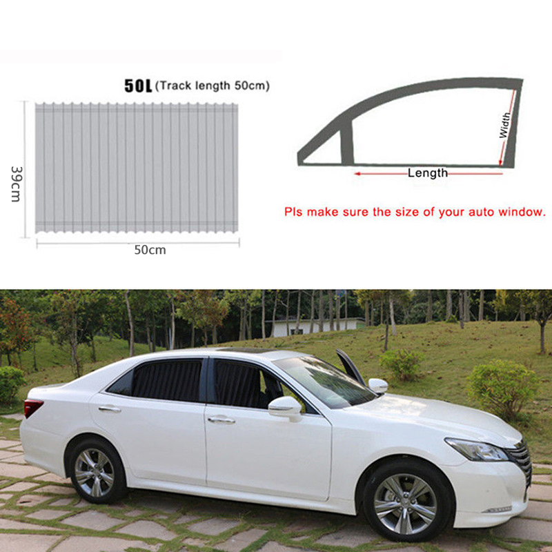 Image 4 - 2PCS 50*39cm VIP Window Curtain Curtain Anti UV  Sunshade Visor For SUV Auto Car-in Windshield Sunshades from Automobiles & Motorcycles