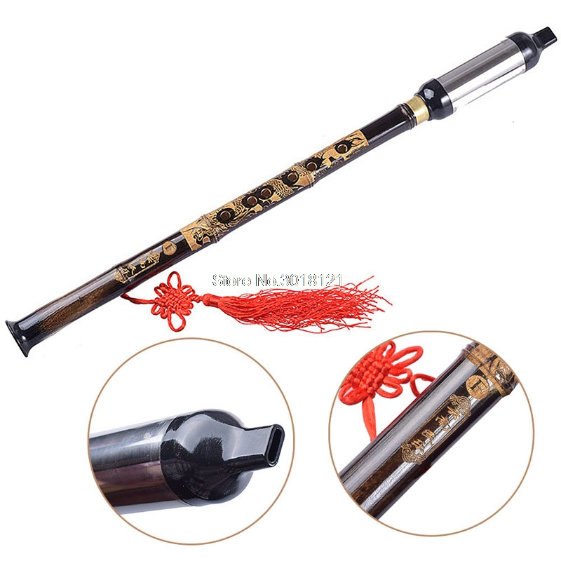 Free Shipping Musical Accessories Chinese Ethnic Instrument Black Bamboo Bawu Pipe BaWu Flute Tune F Detachable