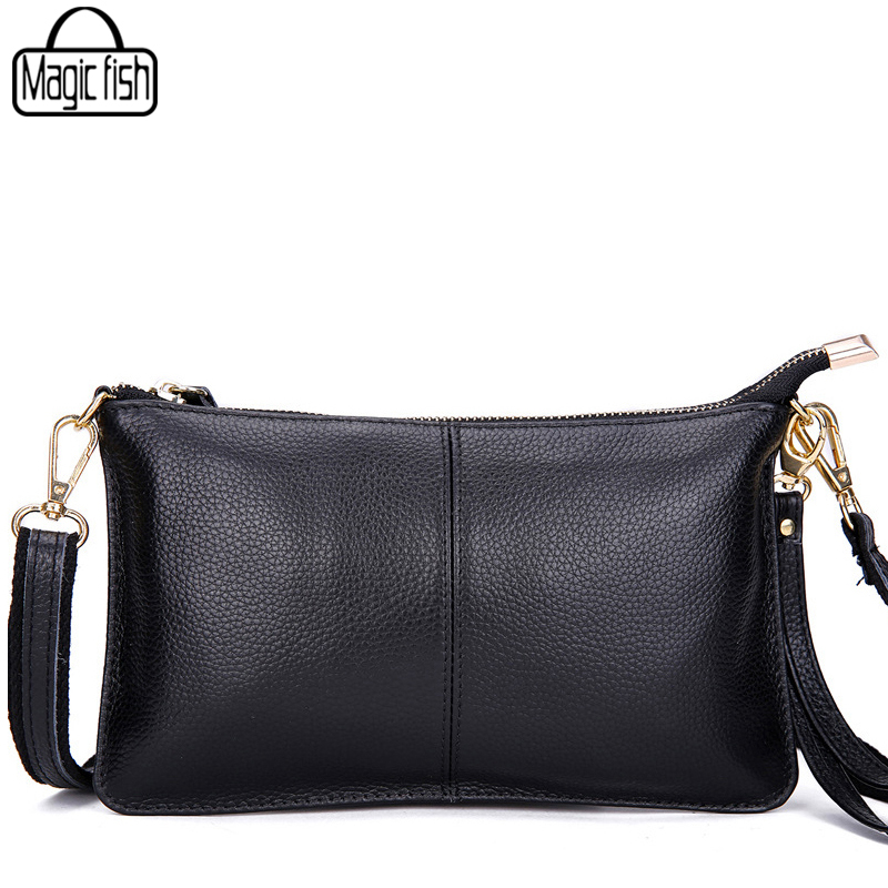 Genuine Leather Women's Day Clutch Bags Real Skin Cowhide Envelope Bags Evening Party Shoulder Bag Ladies Organizer Purse A709/l