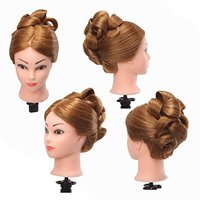 23 Cosmetology School Student Beauty School Cuuting Braiding Practice Cosmetology Mannequin Head Training Head Hair Blonde