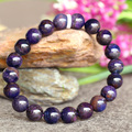 Wholesale Genuine Natural Purple Blue Sugilite Stretch Finish Bracelet Round Big beads 9mm 03762