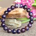 Wholesale Genuine Natural Purple Blue Sugilite Stretch Finish Bracelet Round Big beads 9mm 03762