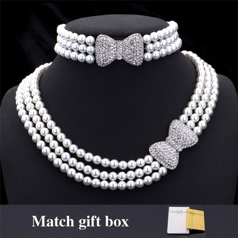 3022f95afe6f Ювелирные украшения с жемчужинами для Для женщин Бусины многослойная ...