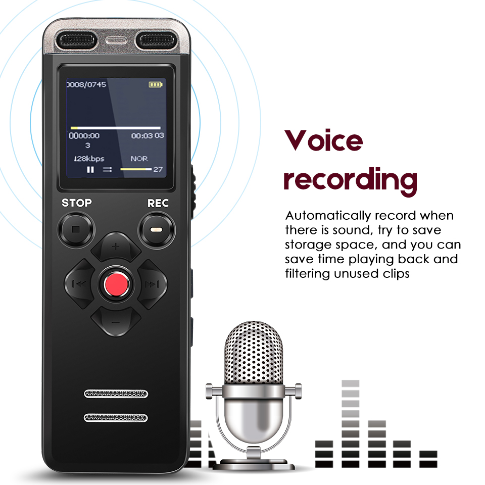 Professional Portable Digital Voice Recorder MP3 Recording Pen 8GB MINI Telephone Dictaphone WAV MP3 Hidden With Built-in Mic спасская м серьга удачи знаменитого сыщика видока