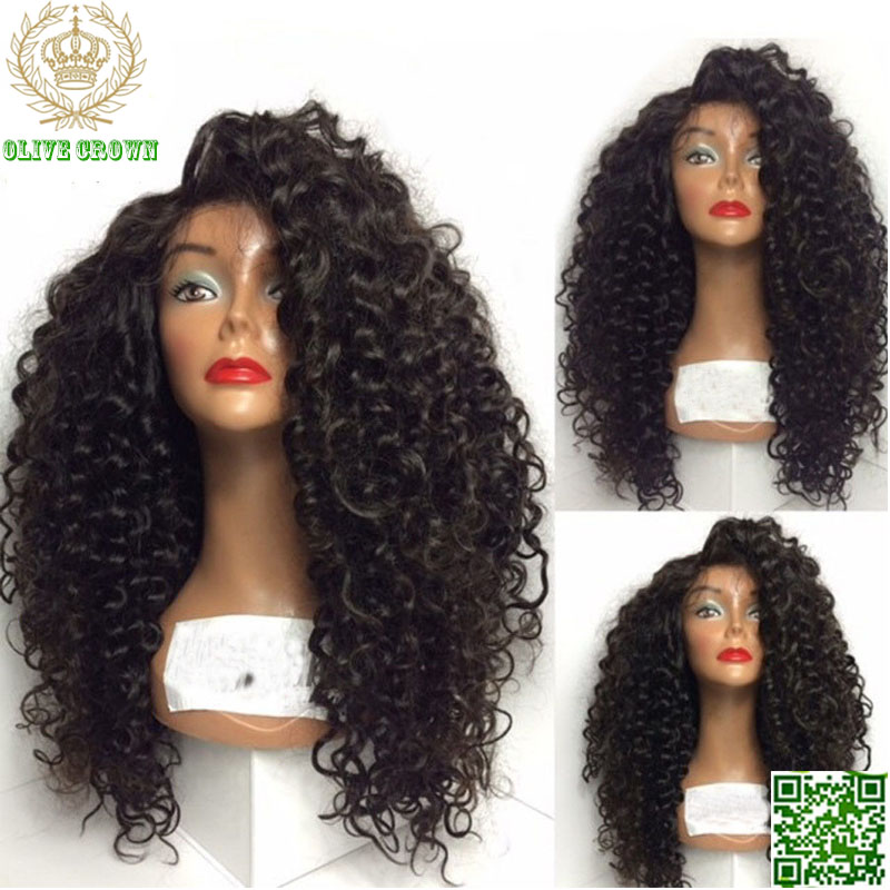 efa258554 Virgin Human Hair Loose Curly Malaysian Lace Front Wig 150 Density Full  Lace Human Hair Wigs Glueless Lace Wig With Baby Hair