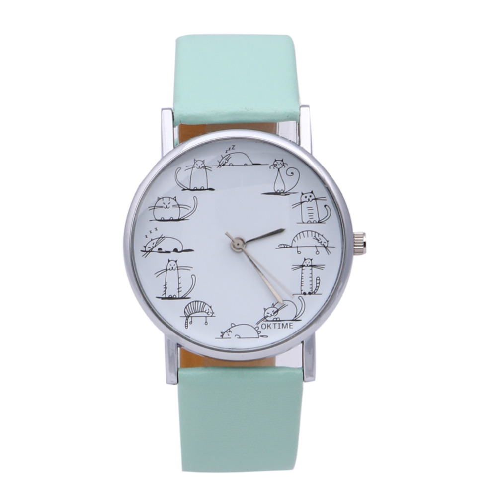 2019 Dameshorloges Dameshorloge PU Horlogeband Horloges dameshorloge Casual quartz dameshorloge voor dames Montre Femme