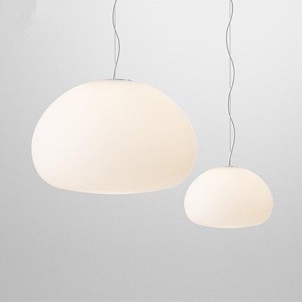 New Modern Nordic White Glass Pendant Lights E27 Lustres Living Room Pendant Lamps Suspension Fixture luminaires Home Lighting цена 2017