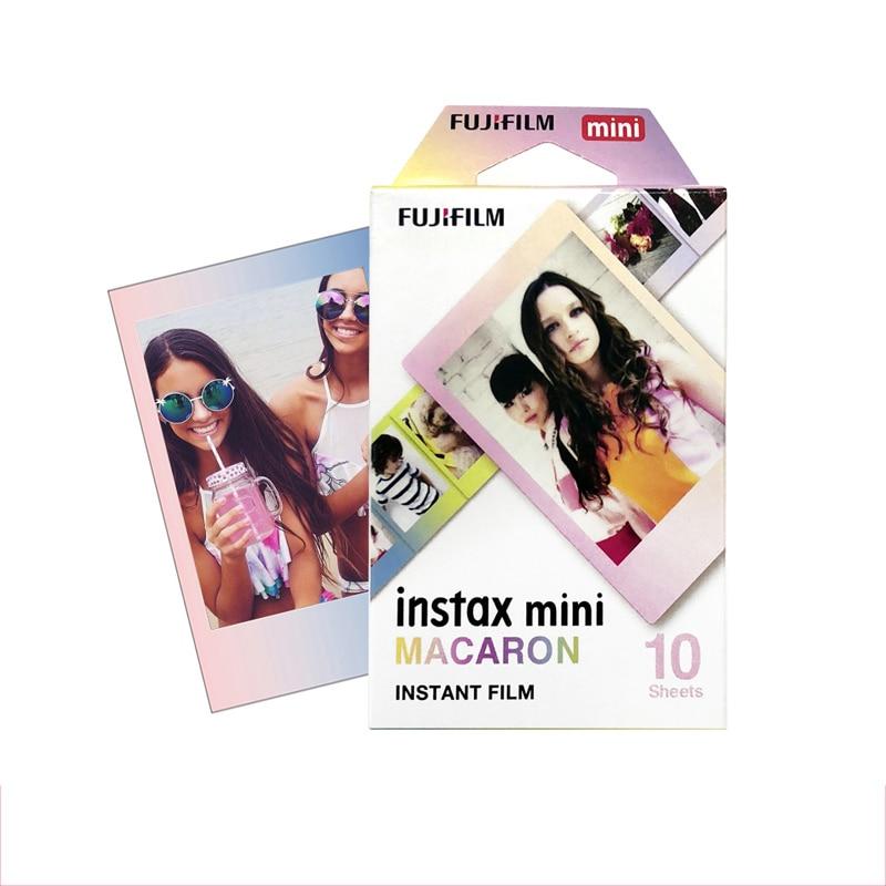 Original Fujifilm MACAROON Instax Mini 8 película (10 hojas) para Polaroid mini cámara instantánea mini 7 s 25 50 S 90 SP-1