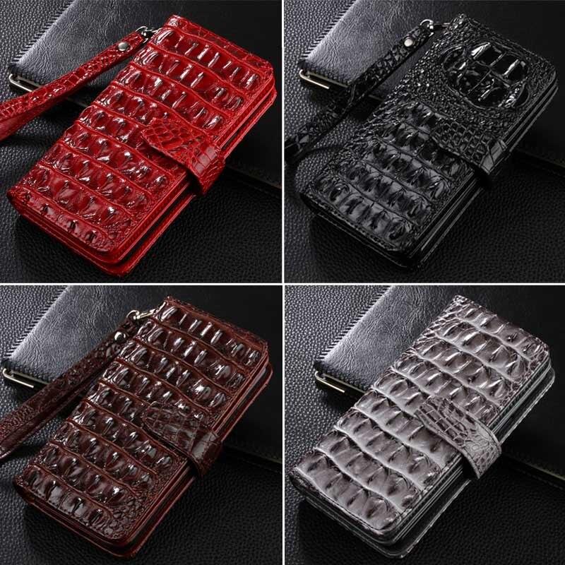 imágenes para Cocodrilo Del Tirón para el Meizu M2 M2 mini 5.0 ''Monedero Cubierta de Cuero Para Meizu NOTA 5.5 pulgadas Con el Soporte función