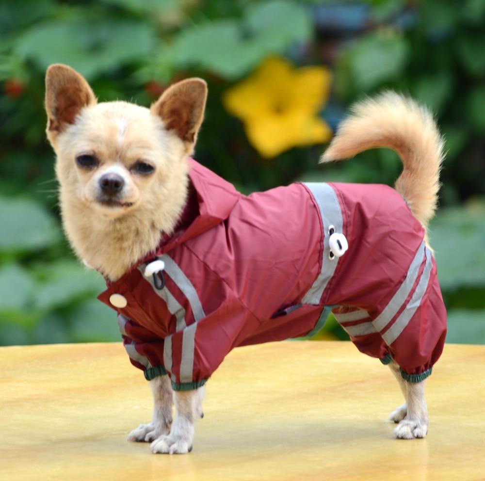 Mylb Dog Jumpsuit Pet Dog Cat Raincoat Clothes Puppy Glisten Bar Hoody Waterproof Rain Jackets Best