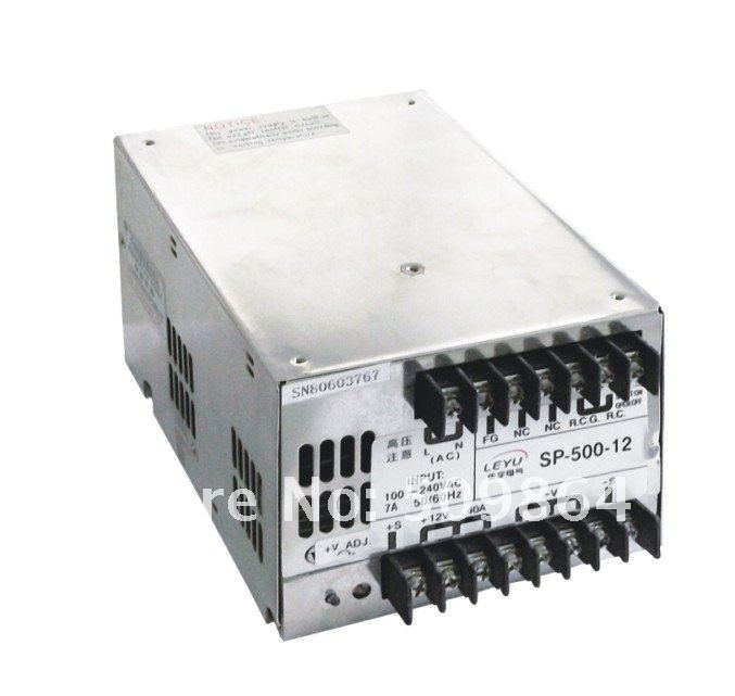 CE RoHS authentication 500W PFC function power SP 500 24 single output 24V 4 2A switching