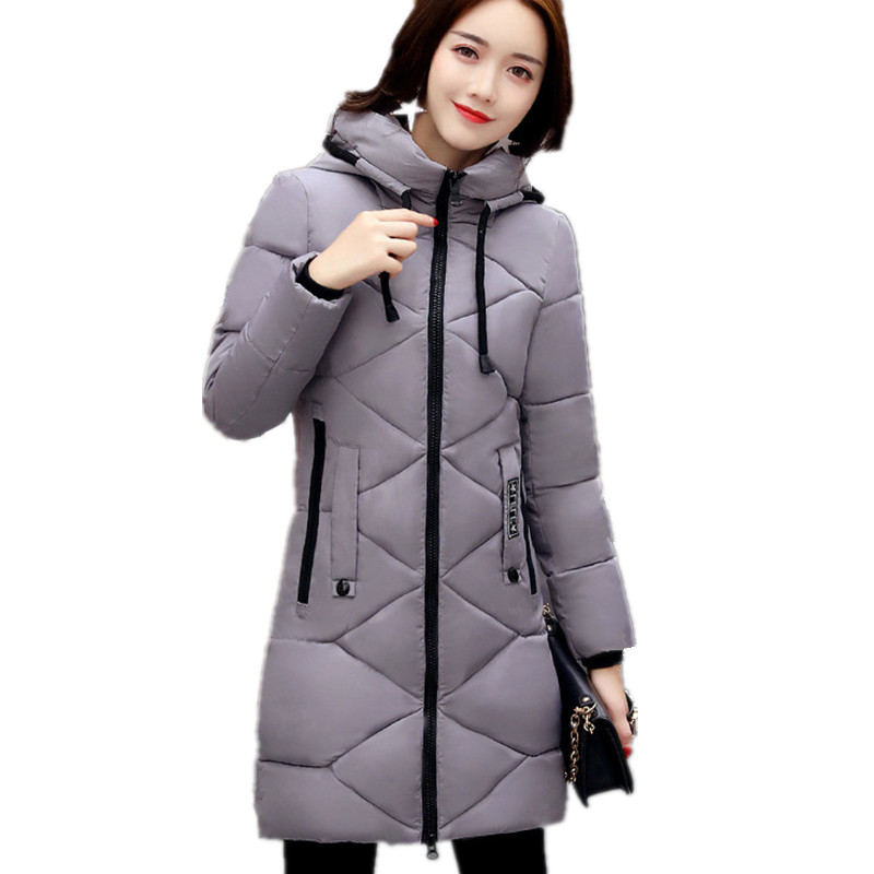 Thick Cotton Padded Parka For Winter High Quality Hooded Overcoat Female Outerwear Fashion Winter Coat Women Large Size TT3317