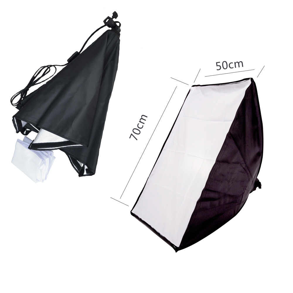 Photography Studio Video Accessories 50*70CM Wired Softbox Lamp Holder with E27 Socket for Continuous Lighting With Carry Bag
