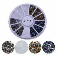 2017 Hot Top AB Camaleão Unha Caixa de Pequenas Pedras de Cristal Irregular Gems Beads 1 14g 3D Strass Manicure arte Decoração