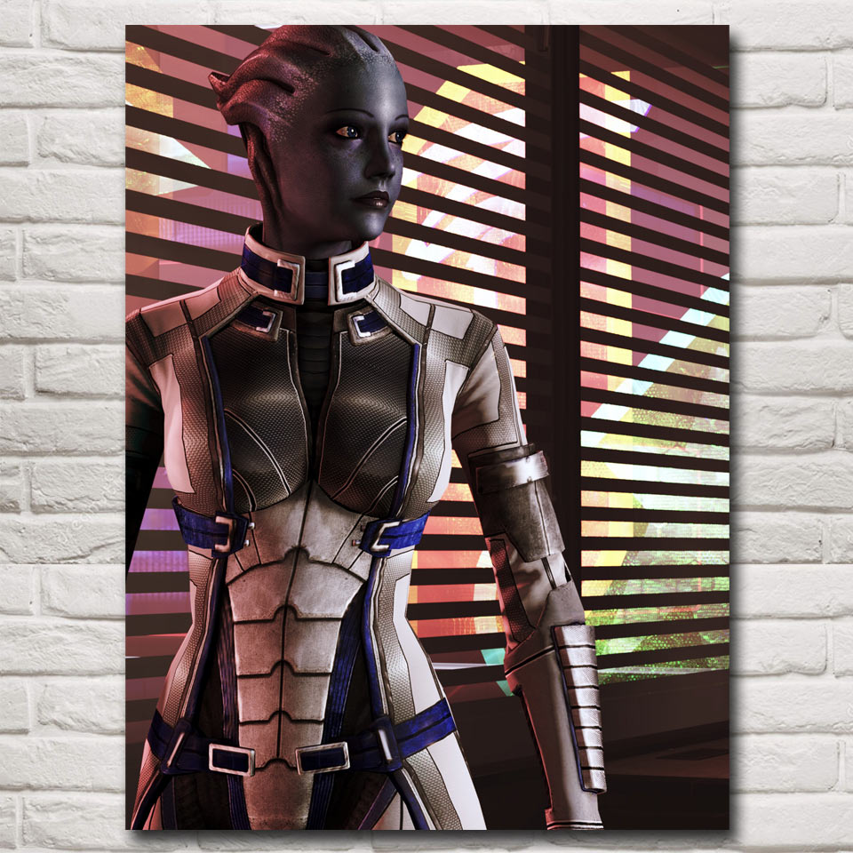 FOOCAME Mass Effect 2 3 4 Shooting Action Game Art Silk Poster Picture Bedroom Living Room Decor 12x16 18x24 24x32 Inches(China)
