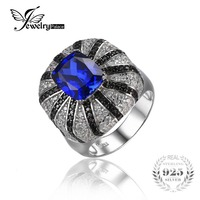 6ct Sapphire Spinel Ring Set 925 Solid Sterling Silver Fashion Luxury Design Hot Sale