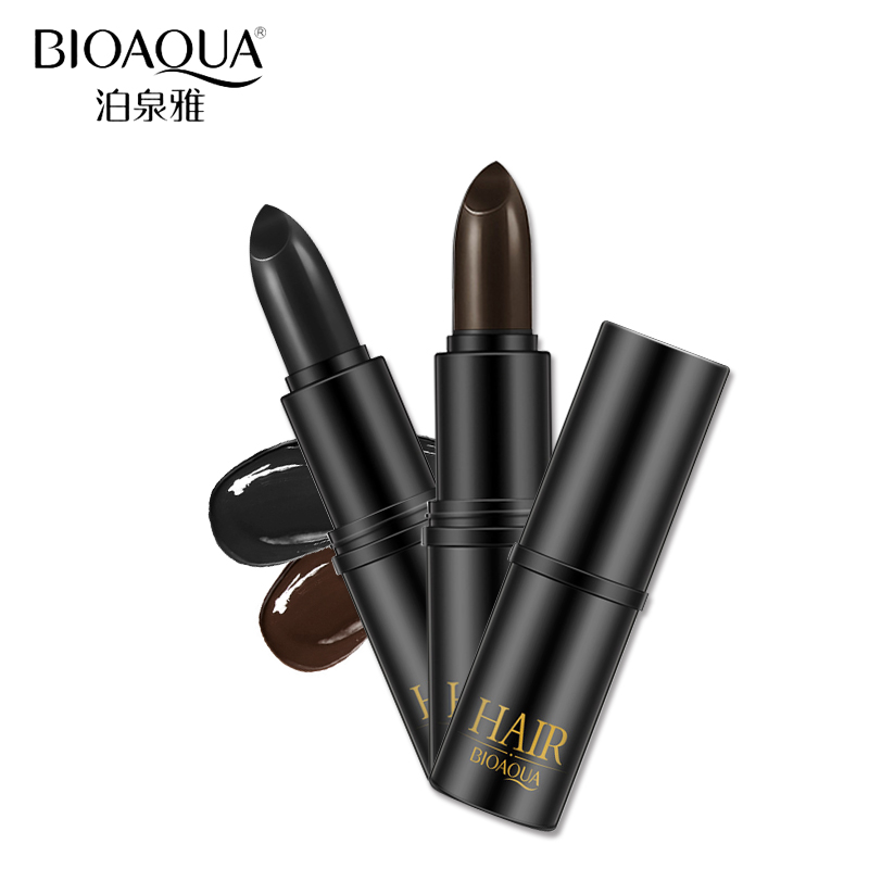 100pcs BIOAQUA Black Brown Temporary Hair Dye Cream Mild Fast One-off Hair Color Pen Cover White Hair DIY Styling Makeup Stick