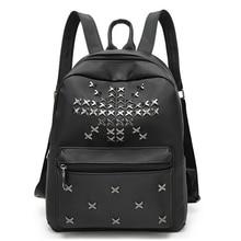 Высокое качество Оксфорд Для женщин рюкзак моды заклепки подросток Обувь для девочек школьные Сумка женская черная сумка известного бренда путешествия рюкзак