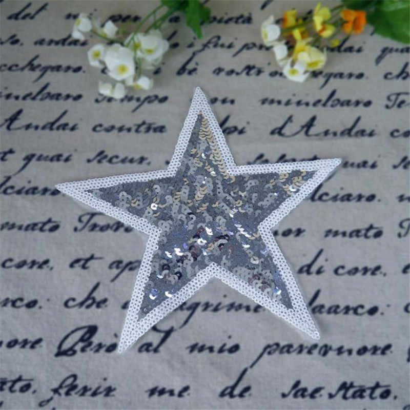 Women/Men/Kids sequins cute embroidery patch 24cm star deal with it patches for clothes T-shirt/Jeans/Coat free shipping