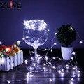 2 M 20 Cabezas LED Cadena de Luz Pila de Botón Impermeable del Alambre de Cobre Luces de Banquete de Boda de Hadas de Navidad Luces Decorativas