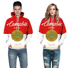 Couple Print Tops Loose Sweater Sportswer Camping & Hiking Sweater camisoles for women Thin Hooded 3D Print Jacket Men