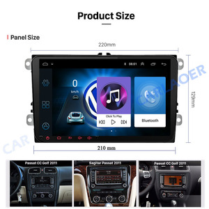 Автомагнитола 2 DIN, Android, мультимедиа, GPS-навигация, для VW Volkswagen GOLF 5 6 Polo Passat b5 Jetta Tiguan Touran Skoda