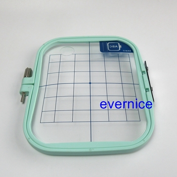 """Medium Embroidery Hoop 4""""X4"""" Sa417 For Brother Pe100,150,150V,170D,180D 190D 200"""