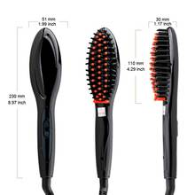 Electric Hair Straightener Brush : Hair Care Comb, Auto Massage & Straightening