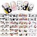 12 Diseños/juego Marilyn Monroe y Audrey Hepburn Con Cubierta Completa Etiqueta Engomada Del Clavo Para El Arte Del Clavo de Agua Calcomanías Decoraciones BN025-036