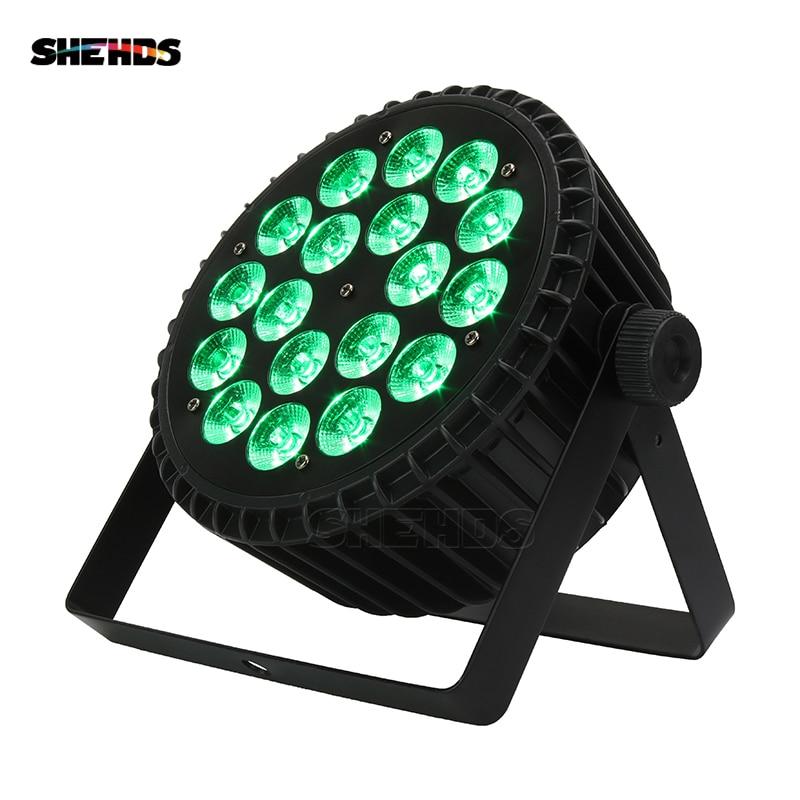 Alliage d'aluminium LED Par 18x12 W RGBW 4in1 LED Par peut LED Par lumière DMX scène lumières ou fête KTV Disco DJ lampe DMX512 4/8CH