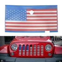 تصفيف السيارة العلم الأمريكي الجبهة مصبغة شبكة إدراج ل جيب رانجلر 2007-2018