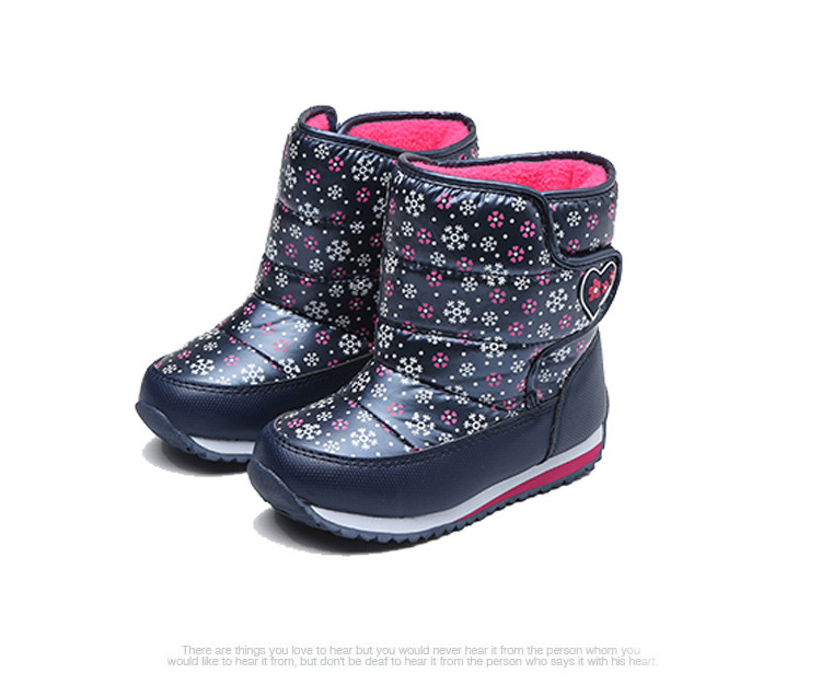 -30 degree Russia Winter Warm Child Snow Boots Shoes Waterproof children's shoes for Kids boots Fashion Baby Girls Boots F332 4