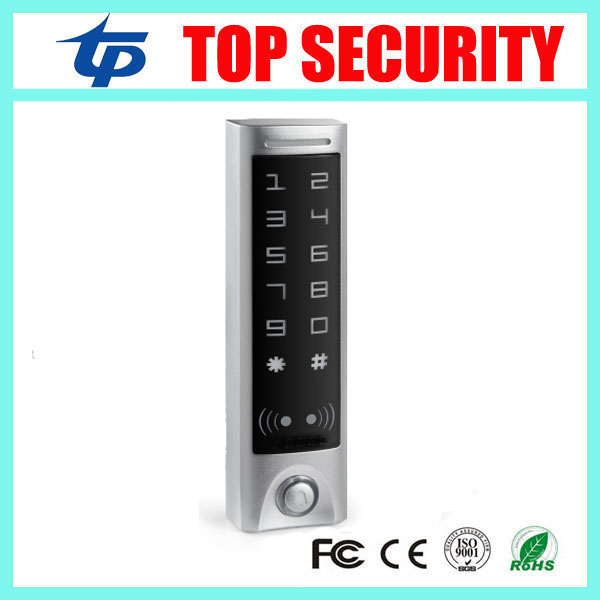 Good quality IP65 waterproof smart card access control with touch keypad new biometric RFID card access control system reader free shipping touch keypad access control rfid card and touch keypad access control