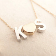 Initial Necklace Fine Gold Chain Monogram Necklace Couple Ketting Met Initialen Necklaces Love Pendant Monogrammed LTETTER DIY